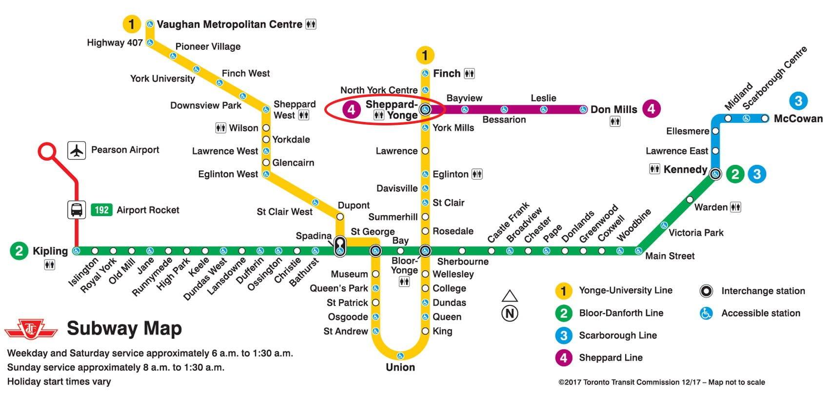 Location Subway Map